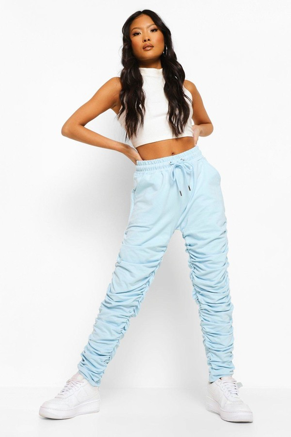 Thumbnail for your product : boohoo Petite Ruched Joggers