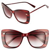 Derek Lam Women's Clara 55Mm Gradient Sunglasses - Black Brown