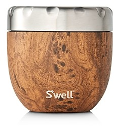 Swell Eats Large Teakwood-Look Food Storage Container