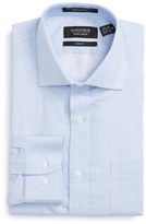 Nordstrom Men's Trim Fit Solid Linen & Cotton Dress Shirt