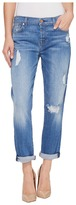 7 For All Mankind Josefina w/ Destroy in Adelaide Bright Blue Women's Jeans