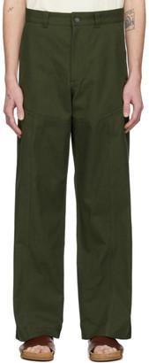 Jacquemus Khaki Le Pantalon Terraio Trousers