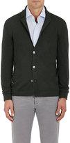 Barneys New York Men's Virgin Wool Cardigan Blazer-DARK GREEN