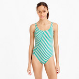 J.Crew Long torso scoopback one-piece swimsuit in classic stripe