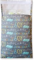 """Tiny-Tote-Along """"Boy"""" Airplane Print Diaper Bag in Grey/Blue"""