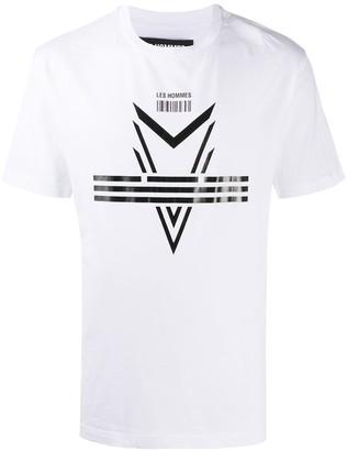 Les Hommes graphic-print cotton T-shirt