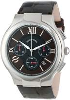 Philip Stein Teslar Men's 45-CRBRN-ACHS Round Chronograph Dial Chocolate Alligator Strap Watch