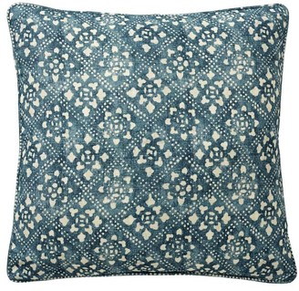 Pottery Barn Leada Print Pillow Cover - Blue Multi