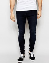 Dr. Denim Jeans Dixy Extreme Super Skinny Midnight Dark
