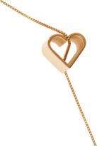 Stella McCartney Gold-tone heart pendant necklace