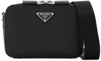 Prada Logo Saffiano Leather Camera Bag