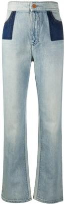 Philosophy di Lorenzo Serafini Two-Tone Panel Jeans