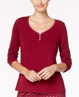 Nautica Double-Knit Pajama Top