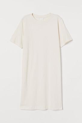 H&M Cotton T-shirt Dress - White