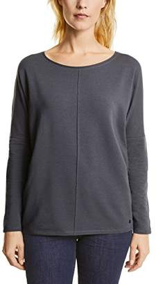 Cecil Women's Valentina 311654 Longsleeve T-Shirt, (deep Blue 10128), M