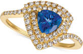 LeVian Le Vian® Neo GeoTM Blueberry Tanzanite® (5/8 ct. t.w.) & Diamond (3/8 ct. t.w.) Ring in 14k Gold