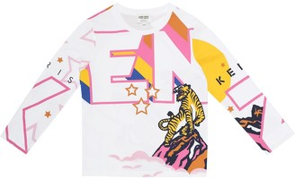Kenzo Kids Printed cotton T-shirt