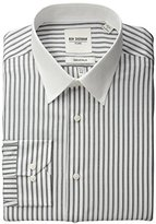 Ben Sherman Men's Black and White Dobby Stripe