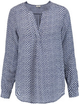 Joie Deon printed washed-silk blouse