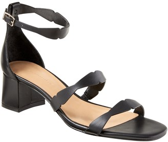 Banana Republic Laser-Cut Low Block-Heel Sandal
