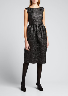 MARC JACOBS, RUNWAY Metallic Boat-Neck Tulip Dress