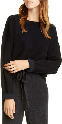 Vince Double Layer Cashmere Crewneck Sweater