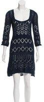 Emilio Pucci Open-Knit Midi Dress