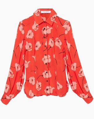Carolina Herrera Floral Print Collared Shirt