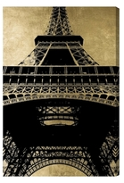 Oliver Gal Eiffel Tower Gold Sky by Canvas)