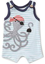 Mud Pie Baby Boys Newborn-6 Months Pirate Octopus Striped Shortall