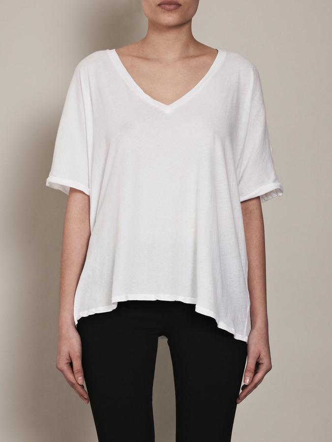 Velvet Lucia wide-neck T-shirt