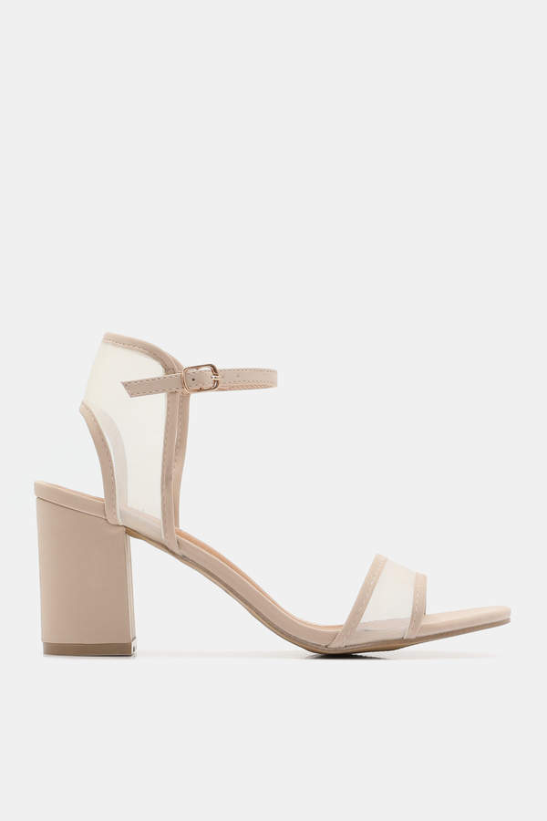 Ardene Faux Leather and Mesh D'Orsay Sandals