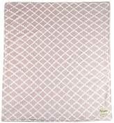"MyBlankee My Blankee Moroccan Mini Tile Minky Throw Blanket, 52"" X 59"", Taupe"