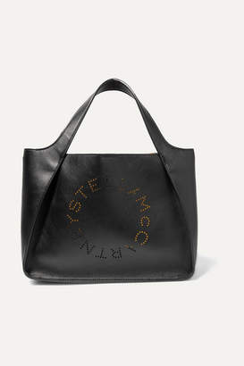 Stella McCartney Perforated Faux Leather Tote - Black