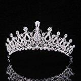 Topwedding Wedding Birdal Pageant Princess Tiara Headband Crown Headpiece w Rhinestones, Women