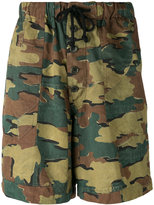 Dries Van Noten camouflage shorts