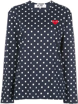 Comme des Garcons dotted logo long-sleeve top
