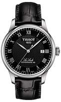 Tissot T0064071605300 Le Locle Date Leather Strap Watch, Black