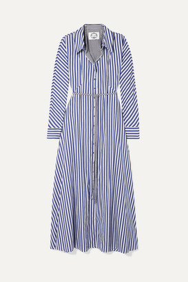 Evi Grintela Victoria Striped Cotton Maxi Dress - Blue