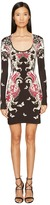 Just Cavalli Long Sleeve Uffizi Print Jersey Dress Women's Dress