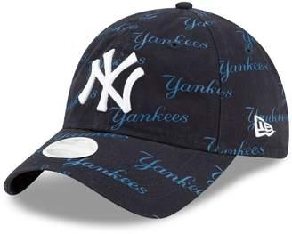 New Era Women's Navy New York Yankees Worded 9TWENTY Adjustable Hat