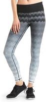 Gap gFast performance cotton ombré zig-zag leggings