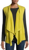 Neiman Marcus Cashmere Draped Vest