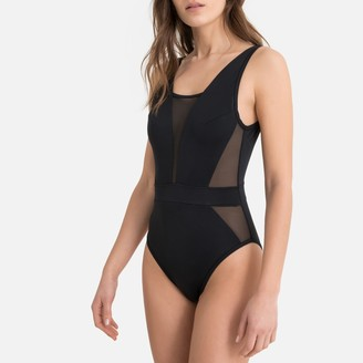 La Redoute Collections Tulle Panel Swimsuit