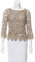 Alberta Ferretti Crocheted Long Sleeve Top