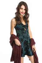 Eight Sixty Bar Front Velvet Burnout Dress