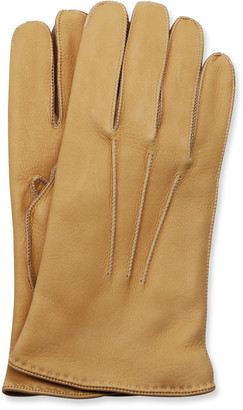 Portolano Men's Deerskin Gloves w/ Contrast Stitching