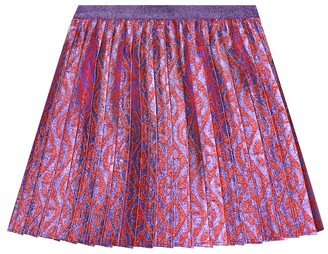 Gucci Kids Pleated lamA skirt