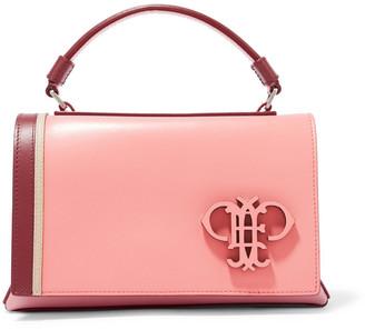 Emilio Pucci Mini Pilot Logo-appliqued Two-tone Leather Shoulder Bag