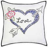 Betsey Johnson Regal Roses Love Arrow Heart Square Pillow